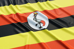 Uganda flag Stock Photos