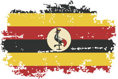 Uganda grunge flag. Vector illustration. Stock Images