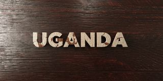 Uganda - grungy wooden headline on Maple  - 3D rendered royalty free stock image Stock Images