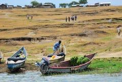 Uganda, Kazinga kanał, Afryka Obraz Stock