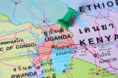 Uganda map Royalty Free Stock Images
