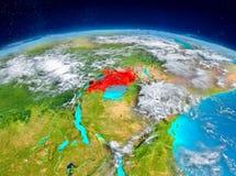 Uganda på jord Arkivfoto