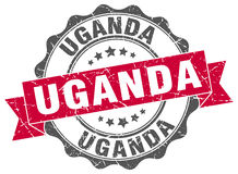 Uganda round  seal Stock Photos