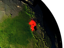 Uganda from space Stock Image