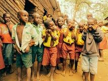 Uganda ungar Arkivfoto