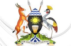 Uganda vapensköld royaltyfri illustrationer