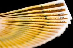 Ugandan cédulas de 50.000 xelins Imagens de Stock
