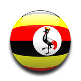 Ugandan flag. In the style of a ball Stock Photo