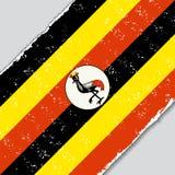 Ugandan grunge flag. Vector illustration. Royalty Free Stock Images