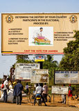 Ugandan poster calling for 2011 general elections Royalty Free Stock Image