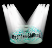 Ugandan Shilling Indicates Exchange Rate And Broker Royalty Free Stock Images