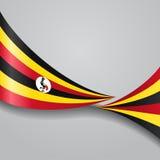 Ugandisk krabb flagga också vektor för coreldrawillustration Royaltyfri Fotografi
