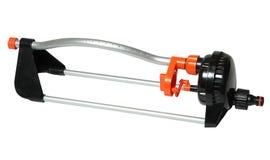 Ugello del metallo su un tubo flessibile per gli spruzzatori automatici ed il tubo flessibile d'innaffiatura immagini stock libere da diritti