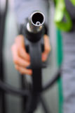 Ugello della pompa di gas Fotografia Stock