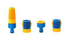 Ugello e connettori del tubo flessibile dell'acqua del giardino Fotografia Stock Libera da Diritti
