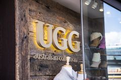 UGG store Royalty Free Stock Photo