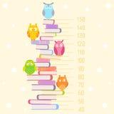 Ugglor på böcker Arkivfoto