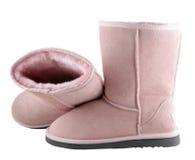 Uggs. Pink Ugg - female australian shoes Stock Image