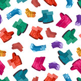 Uggs and socks seamless pattern Royalty Free Stock Photos