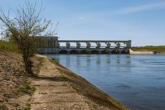 Uglich水力发电的驻地 免版税库存图片