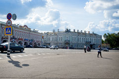Uglich - en forntida stad på Volgaet River Arkivfoto