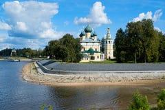 Uglich - en forntida stad på Volgaet River Royaltyfria Bilder