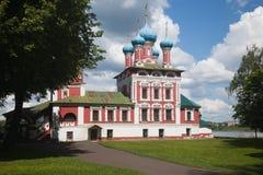 Uglich Kościół Dimitri na krwi zdjęcie stock