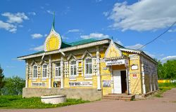UGLICH, RUSSIA. Wooden building of the Museum of national life of the 19th century. Yaroslavl region Royalty Free Stock Image