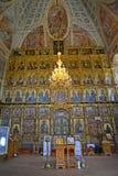 Uglich, Russland Iconostasis und Kirchenmöbel der Transfigurations-Kathedrale lizenzfreies stockfoto