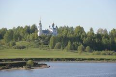 Uglich Widok od Volga rzeki rzeczny rejs na Volga rzece Rosja Czerwiec 2014 r Zdjęcie Stock