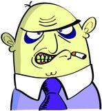 An ugly angry smoker Stock Photos