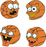 Ugly Basketballs Royalty Free Stock Photography