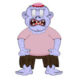 Ugly Blue Zombie People cartoon Royalty Free Stock Photos