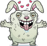 Ugly Bunny Hug Royalty Free Stock Image