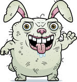 Ugly Bunny Waving Stock Image