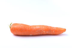 Ugly Carrot on a White Background. Single ugly carrot isolated on a white background Royalty Free Stock Photos
