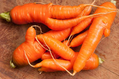 Ugly carrots, fresh produce Stock Photo
