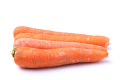 Ugly Carrots on a White Background 2. Four ugly carrots isolated on a white background Royalty Free Stock Photos