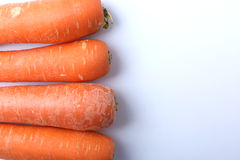 Ugly Carrots on a White Background 5. Four ugly carrots isolated on a white background Royalty Free Stock Images
