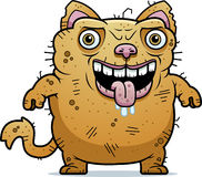 Ugly Cat Standing. A cartoon illustration of an ugly cat standing Stock Image
