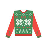 Ugly christmas sweater with deer pattern Royalty Free Stock Photography