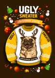 Ugly Christmas Sweater vector illustration
