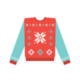 Ugly christmas sweater with snowflake pattern Royalty Free Stock Photo