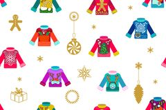 Ugly Christmas sweaters. stock illustration