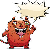 Ugly Devil Talking Royalty Free Stock Photography