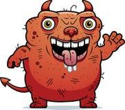 Ugly Devil Waving Stock Image