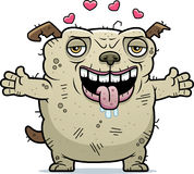 Ugly Dog Hug. A cartoon illustration of an ugly dog ready to give a hug vector illustration