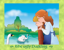 The ugly duckling 24: all loves the swan Royalty Free Stock Photos