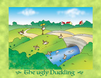 The ugly duckling 8 birds Royalty Free Stock Images