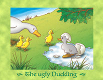 The ugly duckling 2 the birth Stock Photos
